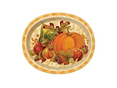 Harvest Fall Oval Paper Plates, 8 ct