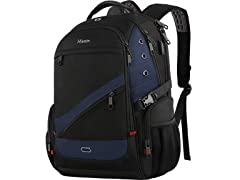 "Matein Large 17.3"" Travel Laptop Backpack, Blue"