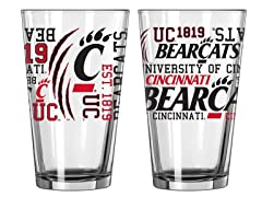 Cincinnati Spirit Pint Glasses (2)