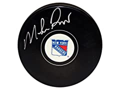 Mike Richter Rangers Signed Puck