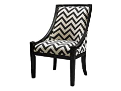 Carnegie Chair - Black Chevron