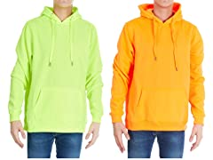 Men's Neon Fleece Safety Hoodie