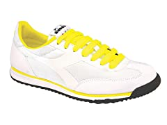 Diadora Men's DD Cross Nylon- Wht/Yellow