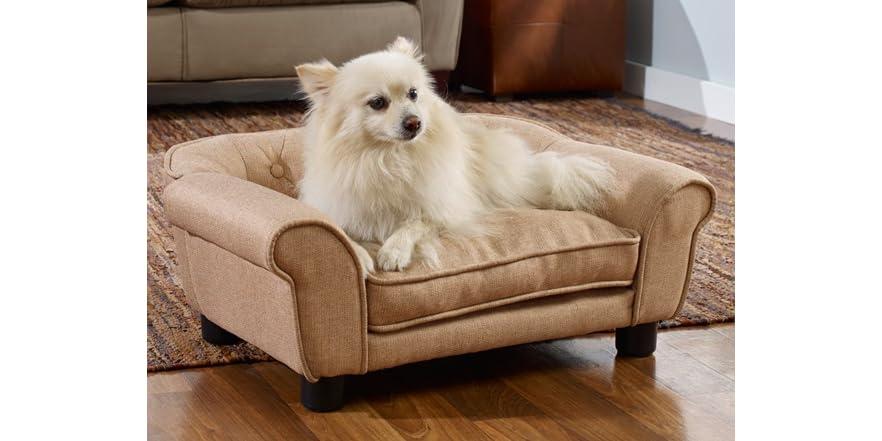 Enchanted Sydney Linen Tufted Pet Sofa