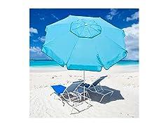 7-ft. Beach Umbrella w/ Sand Anchor: Your Choice