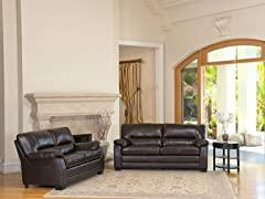 Abbyson Living Brentwood Leather 2-PC Set