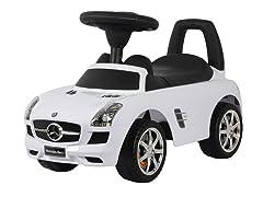 White Mercedes SLS Push Car