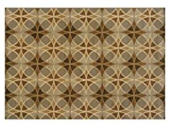Emery Blue-Beige Geometric Rug (Multiple Sizes)
