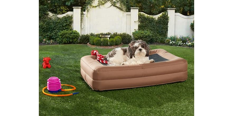 outdoor inflatable pet bed   sellout woot