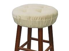 "Gripper® 14"" Barstool Covers-Pinwale-Khaki S/2"