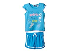 Girls Tee & Short Set - Team Spirit