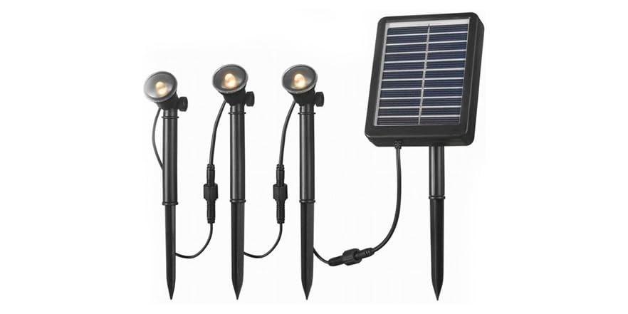 Design Craft 60504 Solar Spotlight 3 Light String Kit