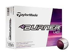 TaylorMade 2014 Lady Burner Golf Ball 12pk