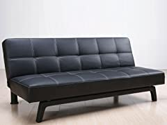 Rylin Black Convertible Sofa