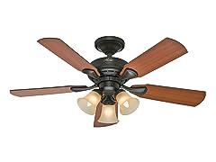 46-inch New Bronze Fan w/Light
