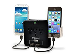 Aduro Dual USB Charging Station w/Phone Holders