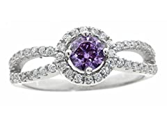Purple Simulated Diamond Ring