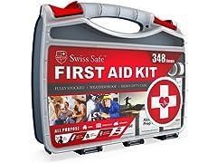 SwissSafe 2in1 First Aid Kit (348-Piece)