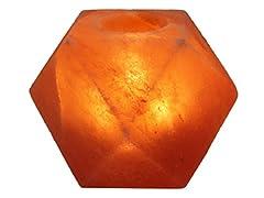 Above Edge Himalayan Salt Lamp with USB Plug-Diamond