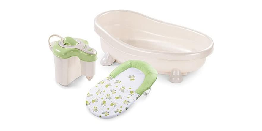summer infant green soothing bath tub kids toys. Black Bedroom Furniture Sets. Home Design Ideas