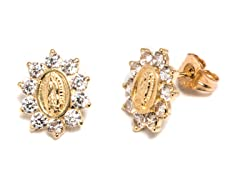 14K Gold Guadalupe Spike Stud Earring