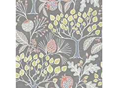 Groovy Garden Grey Peel & Stick Wallpaper