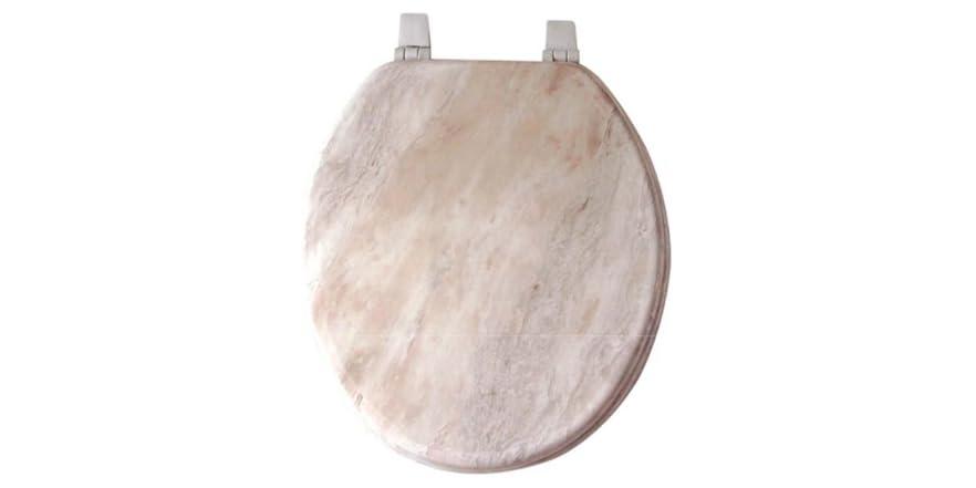 17 Inch Round Veneer Marble Toilet Seat
