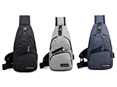 3P Experts Sling Bag with USB Port