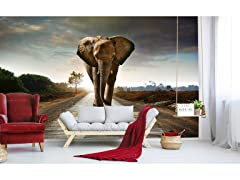 Walking Elephant Wall Mural