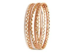 18kt Plated Zigzag Bangle 7-Pack