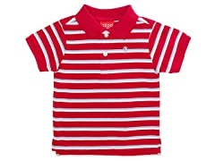 Red Striped Pique Polo (12M-24M)