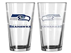 Seahawks Pint Glass 2-Pack