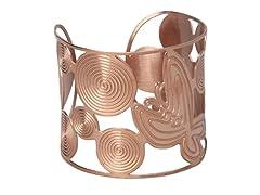 18kt Plated Adjustable Swirl Cuff Bangle