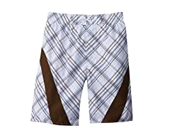 Jantzen Swim Short - Plaid Brown (7-16)