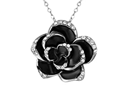 Swarovski Elements Kiss by a Rose Necklace