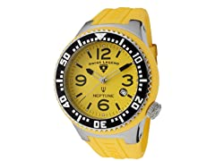 Men's Neptune Watch - Yellow/Yellow