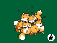Playful Foxes Jersey Zip Hoodie
