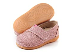 Squeaky Shoe - Sam, Pink Tweed (6-8)