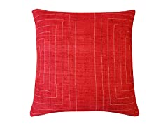 Jiti Streams Silk Square Throw Pillow - 20-Inch