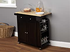 Sonoma Kitchen Cart  Black/Natural