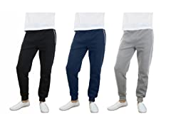 Men's Fleece Jogger Pants 3-Pack