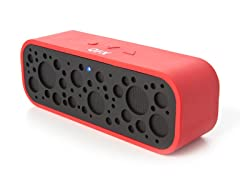 Portable Bluetooth Speaker with Mic - Red