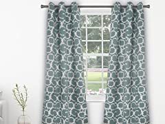 Duck River Rhys Geometric Room-Darkening Curtains