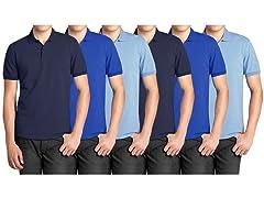 Men's 6-Pack Pique Polo