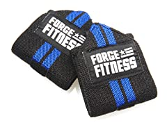 "12"" Elastic Wrist Wraps - Black/Blue"