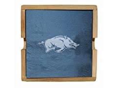 NCAA Slate Square Coaster Set