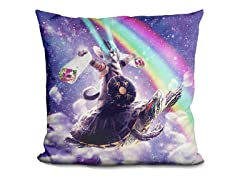 Lazer Warrior Space Cat Pillow