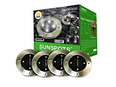 SUNSPOTS Solar LED Outdoor Disk Lights