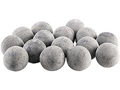 Ceramic Fireplace Balls- Set of 15