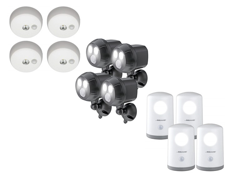 Deals on 4-Pack Mr. Beams Motion-Sensing 400-Lumen Spotlights